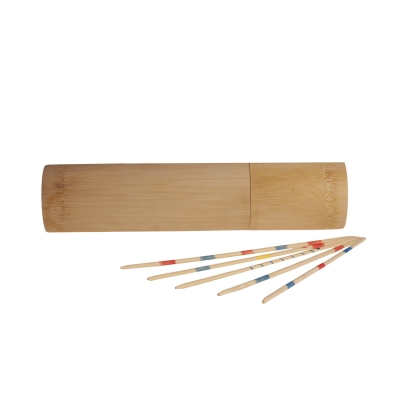 Mikado - Pick-up sticks - 18 cm - made of bamboo - in cylindrical box