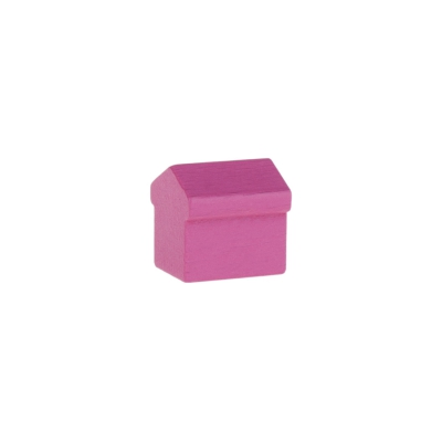 Monopoly Hotel - 15x15x15mm - rosa
