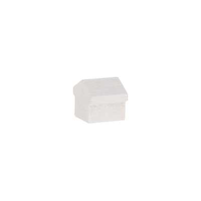Monopoly Haus - 12x13x12mm - weiss