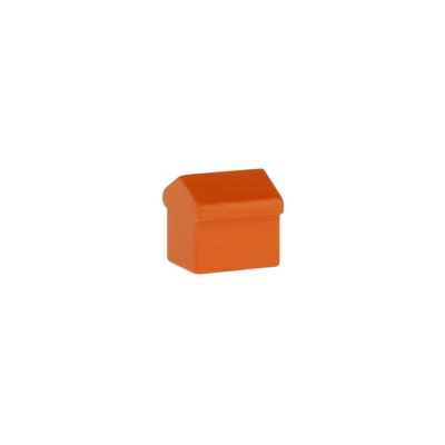 Monopoly Haus - 12x13x12mm - orange