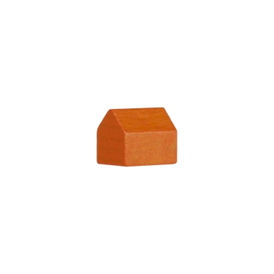 Monopoly Haus - 14x10x12mm - orange