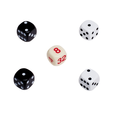 Backgammon dices - Replacement Set - made of plastic