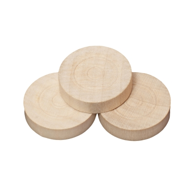 Draughts and Nine Mens Morris pieces - wood - natural - 28 x 7 mm