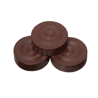 Playing pieces - circular - wood - brown - 28 x 8 mm