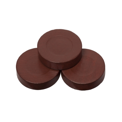 Playing pieces - circular - wood - brown - 30 x 8 mm
