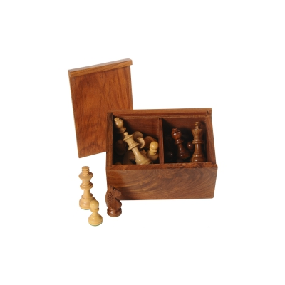Chessman rosewood black-natur - king size 76 mm