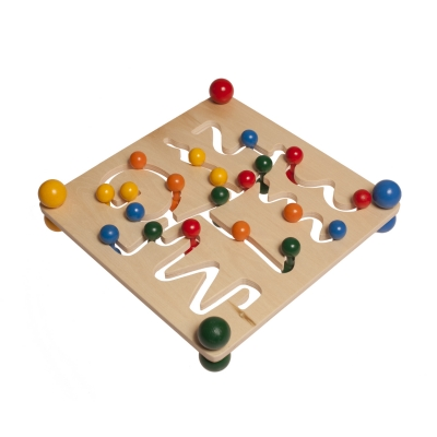 motoric gameboard made ​​of wood - not only a visual experience