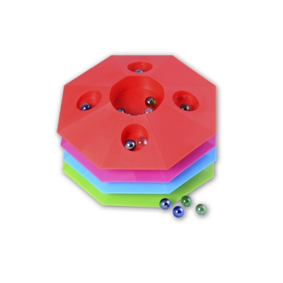 Marble game 22 cm - octagonal- asorted colors