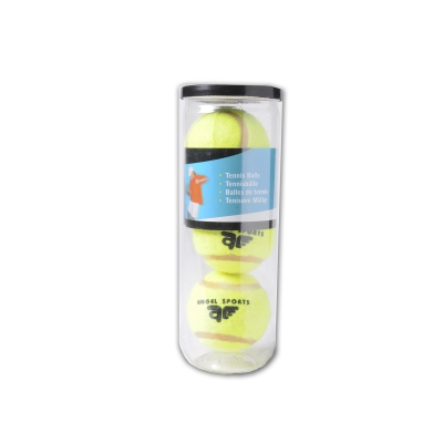 Three tennis balls in the quiver