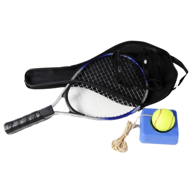 Racquetball racket with ball