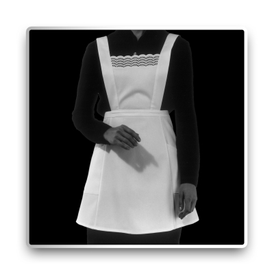 Cocktail Apron - Bib Apron - white - fine twill - 45 cm