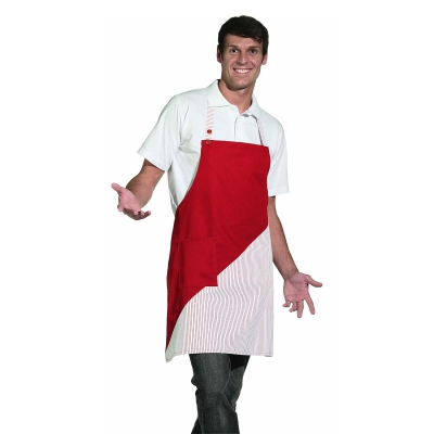 Bib Apron - red-white - 60 cm
