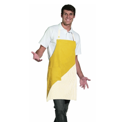 Bib Apron - yellow-white - 60 cm