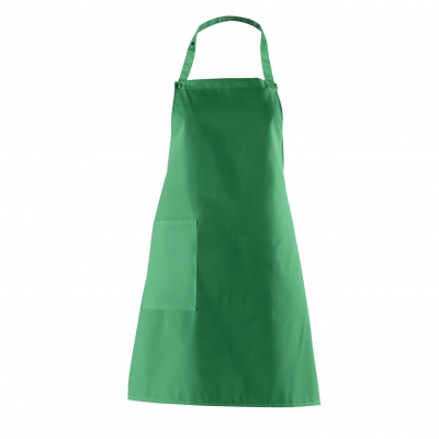 Bib Apron with side Pocket - gardener green - 75 cm