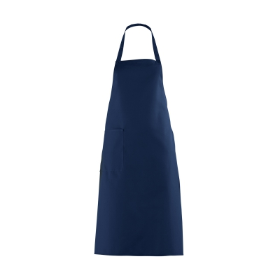 Bib Apron with large Pocket - navy blue - 100 cm