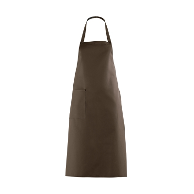 Bib Apron with large Pocket - brown - 100 cm
