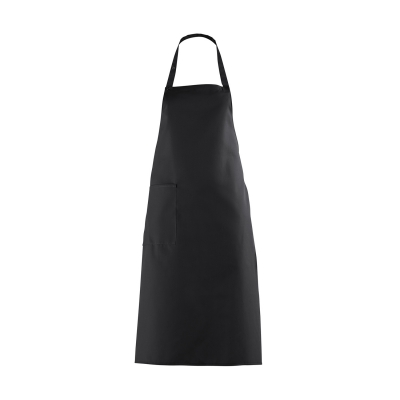 Bib Apron with large Pocket - black - 100 cm