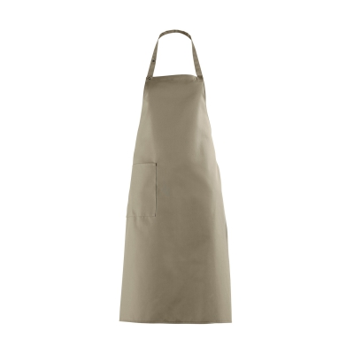 Bib Apron with large Pocket - sand - beige - 100 cm