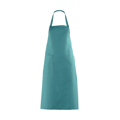 Bib Apron with large Pocket - petrol - turquoise-green - 100 cm