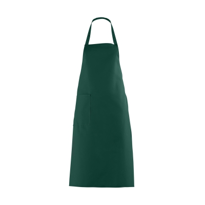 Bib Apron with large Pocket - bottlegreen - 100 cm