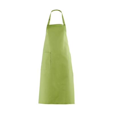 Bib Apron with large Pocket - apple green - 100 cm
