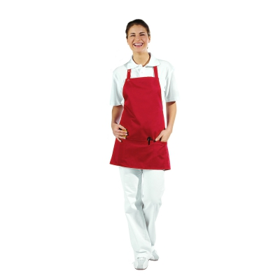 Pocket Apron - 3 Pockets - red - 65 cm