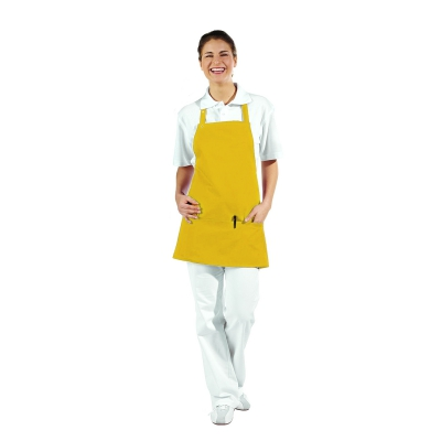 Pocket Apron - 3 Pockets - yellow - 65 cm