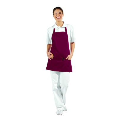 Pocket Apron - 3 Pockets - bordeaux-red - 65 cm
