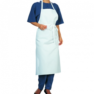 Bib Apron - white - cotton twill - 80x80 cm