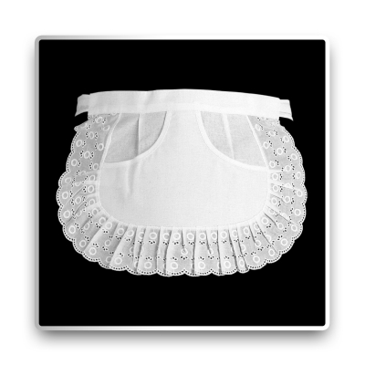 Lace-Serving Apron - white - 27 cm