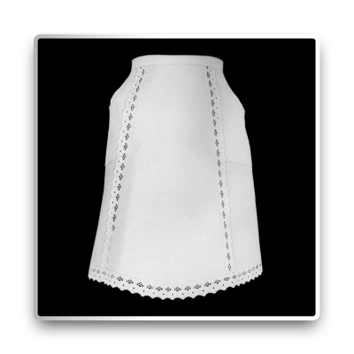 Serving Half Apron - white - 63 cm