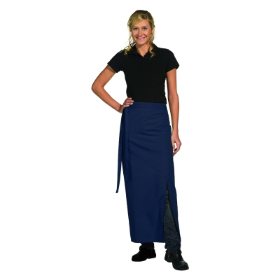 Bistro Apron Exclusive - with walking slit - navy blue - 100x100 cm