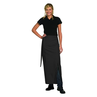 Bistro Apron Exclusive - with walking slit - black - 100x100 cm