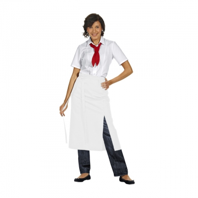 Bistro Apron Exclusive - white - 125x80 cm