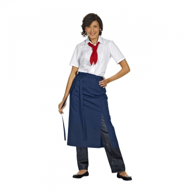 Bistro Apron Exclusive - navy blue - 125x80 cm