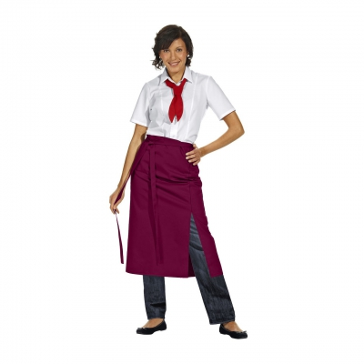 Half Apron Exclusive - bordeaux-red - 145x80 cm