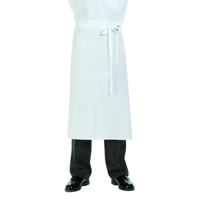 Half Apron - white - cotton twill - 80x80 cm