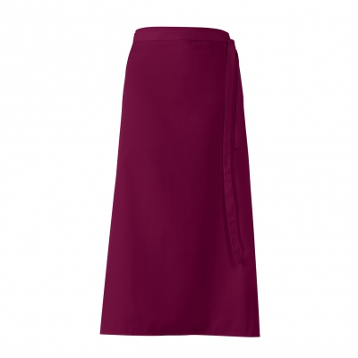 Bistro-Half Apron - bordeaux-red - 100x100 cm