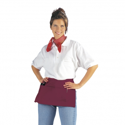 Pocket Apron - bordeaux-red - 50x27 cm