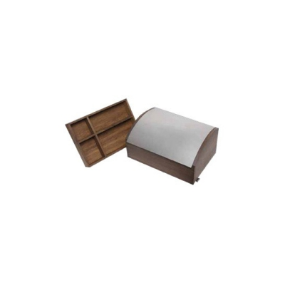 KRAX box - with 2 wood inserts - oak - 43 x 30,5 x 21,5 cm