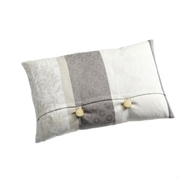Pillow with buttons with feather inlet - Mallorca series - 30 x 50 cm