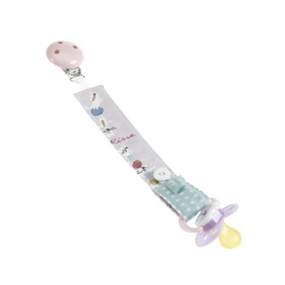 Nabebi - pacifier pink ribbon - 21 cm