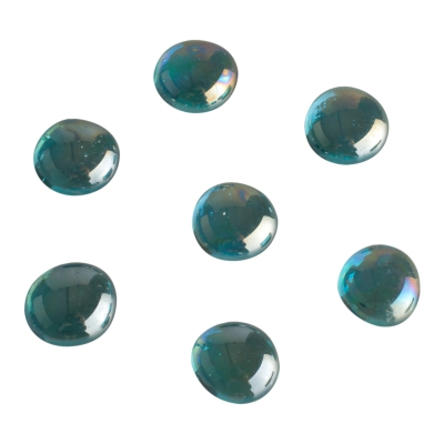 Game pieces made of glass - shimmering - turquoise - 15-20 mm