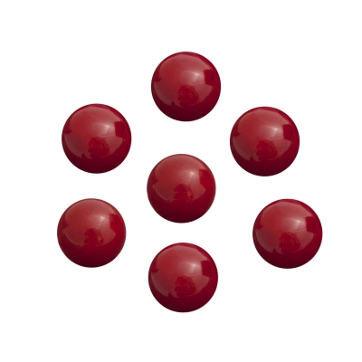Game piece - spheres made of glass - red - ca. 16 mm