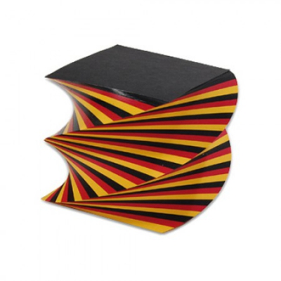 Spiral notebook - black-red-gold - 14 cm