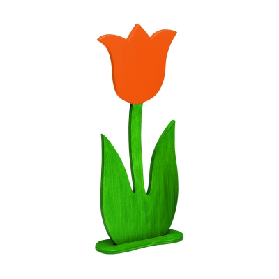 holzblumen holztulpe mittel orange handbemalt 34. Black Bedroom Furniture Sets. Home Design Ideas