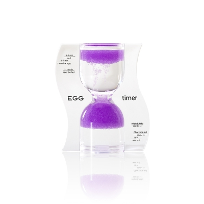 Hourglass - EGG timer - purple - 10 minutes