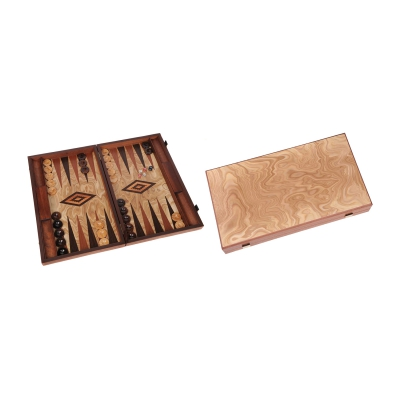 Marmana - groß - Backgammon - Kassette - Holz