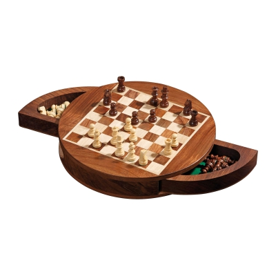 Chess Set - rounded - magnetic - field 19mm