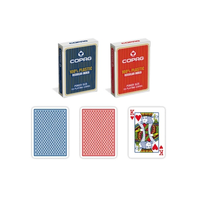 Poker & Bridge - blue & red - plastic